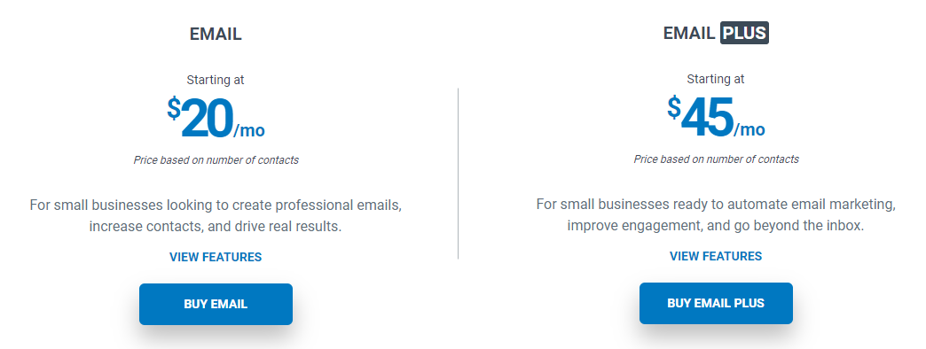 Email Marketing platforms Constant Cart Pricing